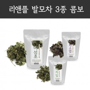 [ HAIR REGROWTH SET III ] Houttuynia Cordata 80g, Perilla Frutescens 40g, Green Tea Loose Leaf 40g
