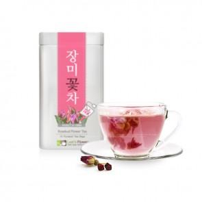 [TIN Pyramid Teabags] Tea Rosebud Flower Tea